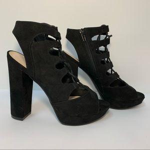 💥 BAR III Black Chunky Heel Nelly Shoes Size 6.5